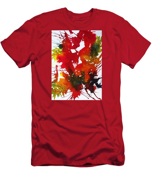 Abstract - Riot Of Fall Color II - Autumn Men's T-Shirt (Slim Fit) by Ellen Levinson