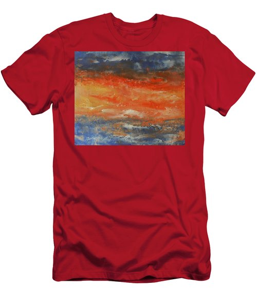 Abstract Sunset  Men's T-Shirt (Slim Fit) by Jane See