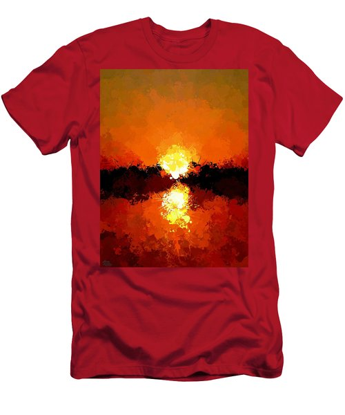 Abstract Sunset On The Sea Men's T-Shirt (Athletic Fit)