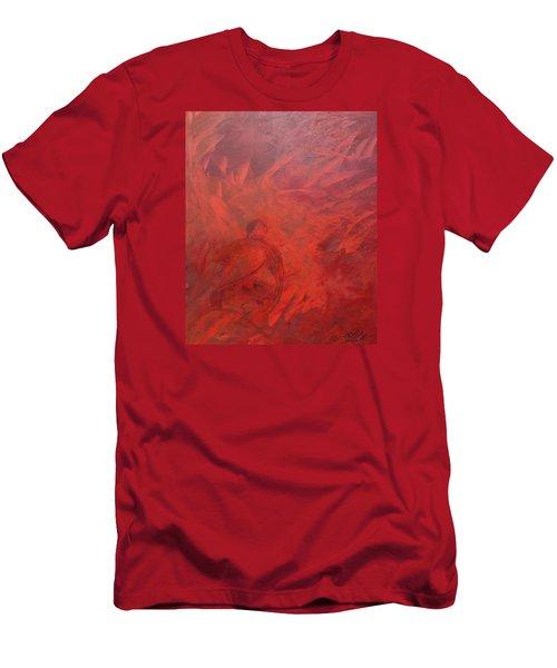Acrylic Msc 181 Men's T-Shirt (Slim Fit) by Mario Sergio Calzi