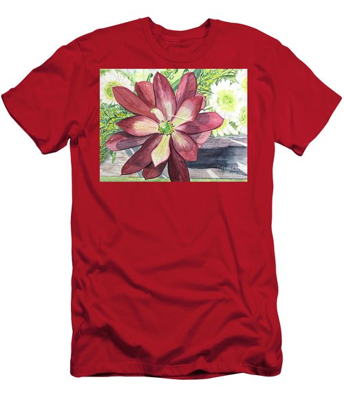 Men's T-Shirt (Slim Fit) featuring the painting African Flower by Carol Flagg