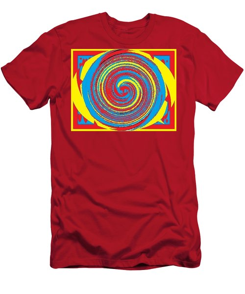 Men's T-Shirt (Slim Fit) featuring the digital art Aimee Boo Swirled by Catherine Lott