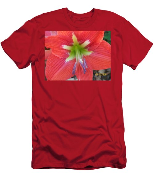 Men's T-Shirt (Slim Fit) featuring the photograph Amarylis by Belinda Lee