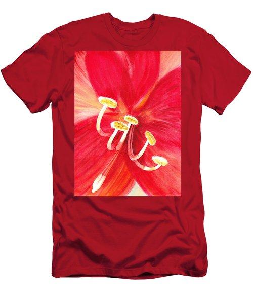 Amaryllis Flower Men's T-Shirt (Athletic Fit)