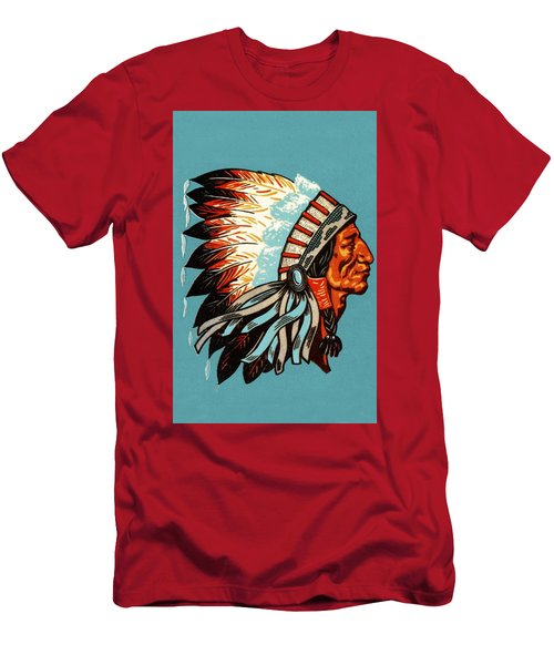 American Indian Chief Profile Men's T-Shirt (Athletic Fit)
