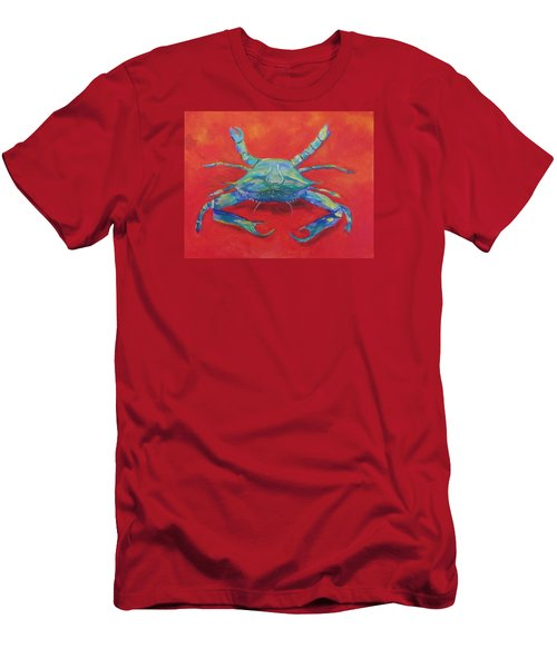 Another Red Crab Men's T-Shirt (Slim Fit) by Anne Marie Brown
