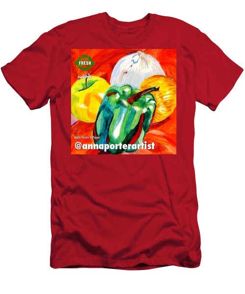 Apple, Onions And Pepper A Digital Edit Men's T-Shirt (Slim Fit)