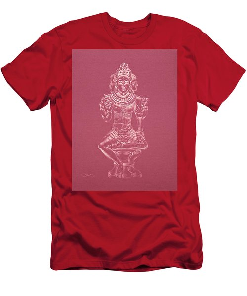 Men's T-Shirt (Slim Fit) featuring the drawing Ardhanarishvara II by Michele Myers