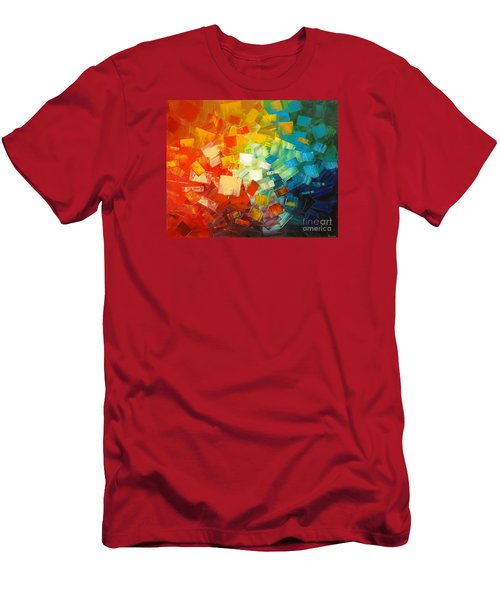 Men's T-Shirt (Slim Fit) featuring the painting Art Lovers by Tatiana Iliina