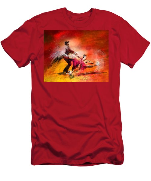 Artistic Roller Skating 02 Men's T-Shirt (Athletic Fit)