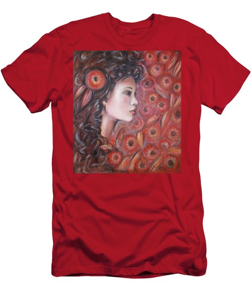 Asian Dream In Red Flowers 010809 Men's T-Shirt (Athletic Fit)