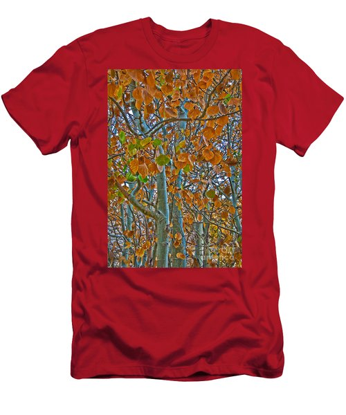 Men's T-Shirt (Athletic Fit) featuring the photograph Aspen Leaves In The Fall by Mae Wertz