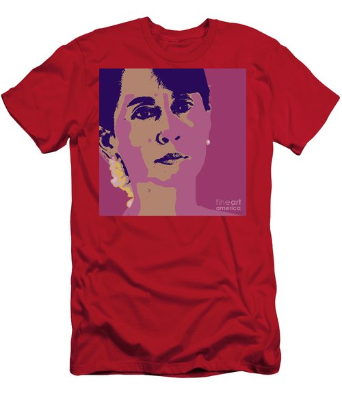Aung San Suu Kyi Men's T-Shirt (Slim Fit) by Jean luc Comperat