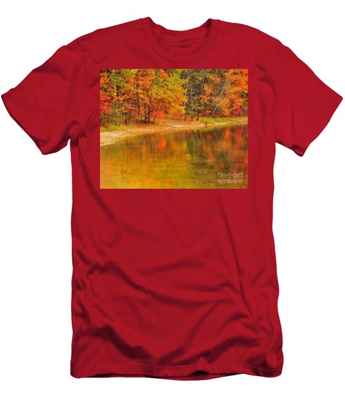 Autumn Forest Reflection Men's T-Shirt (Athletic Fit)