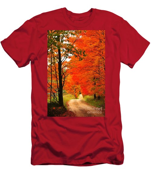 Autumn Orange 2 Men's T-Shirt (Athletic Fit)