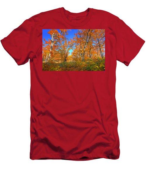 Autumn Orange Men's T-Shirt (Athletic Fit)