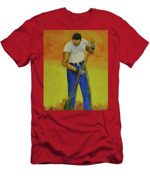 Autumn Raking Men's T-Shirt (Athletic Fit)