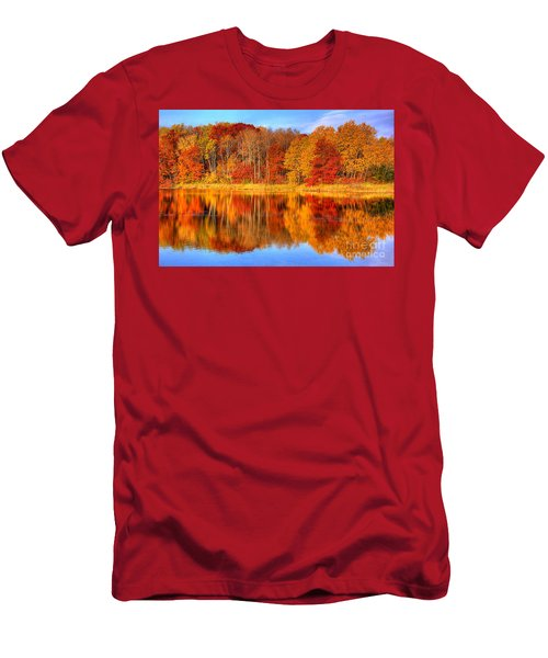 Autumn Reflections Minnesota Autumn Men's T-Shirt (Athletic Fit)