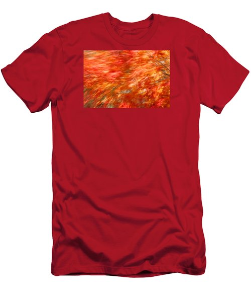 Men's T-Shirt (Slim Fit) featuring the photograph Autumn River Of Flame by Jeff Folger
