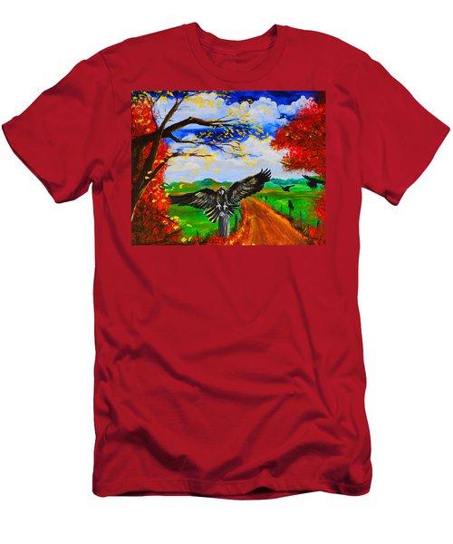 Back Roads Hangout Men's T-Shirt (Athletic Fit)