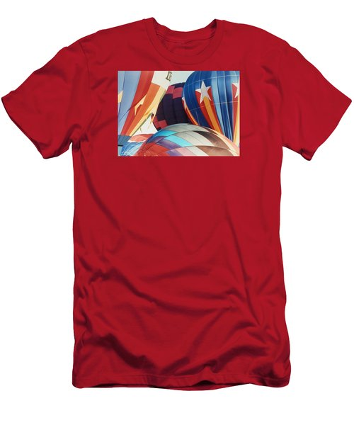 Men's T-Shirt (Slim Fit) featuring the photograph Miami Balloon Fesitval by Belinda Lee