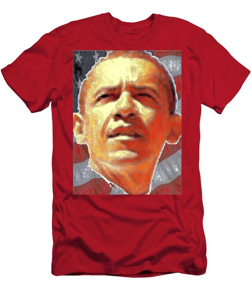 Barack Obama Portrait - American President 2008-2016 Men's T-Shirt (Athletic Fit)