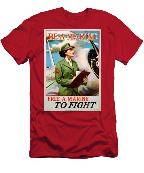 Be A Marine - Free A Marine To Fight Men's T-Shirt (Athletic Fit)
