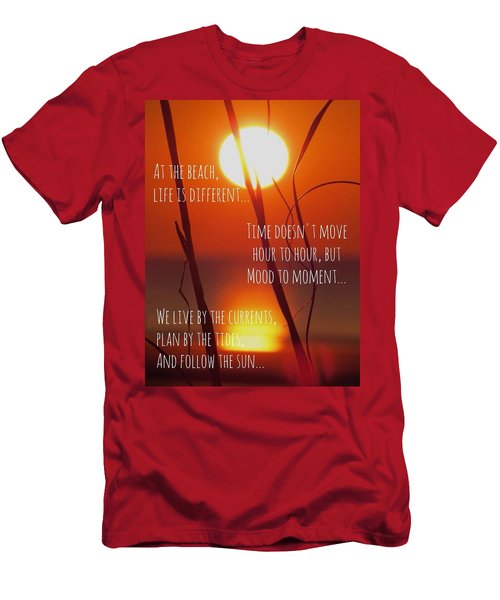 Men's T-Shirt (Slim Fit) featuring the photograph Beach Quote by Nikki McInnes