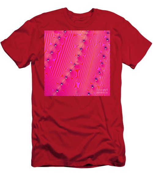 Men's T-Shirt (Slim Fit) featuring the digital art Beaded Pink by Luther Fine Art