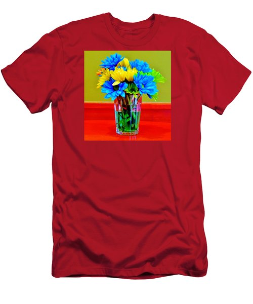 Beauty In A Vase Men's T-Shirt (Slim Fit) by Cynthia Guinn