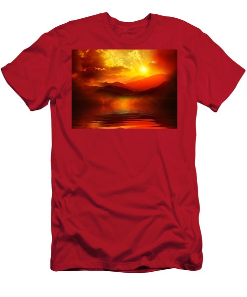 Before The Sun Goes To Sleep Men's T-Shirt (Slim Fit) by Gabriella Weninger - David