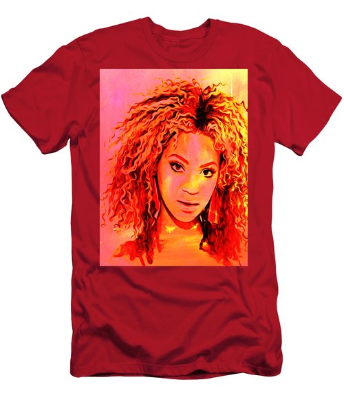 Men's T-Shirt (Slim Fit) featuring the painting Beyonce by Brian Reaves
