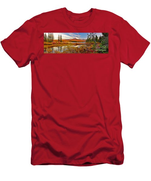 Big Lake And Mt Washington Oregon Men's T-Shirt (Athletic Fit)
