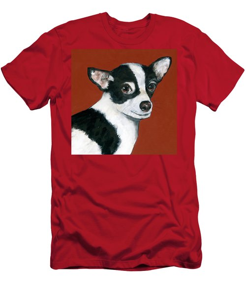Black And White Chihuahua Men's T-Shirt (Athletic Fit)