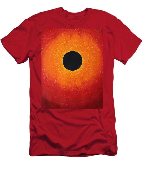 Black Hole Sun Original Painting Men's T-Shirt (Athletic Fit)