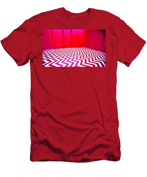 Black Lodge Magenta Men's T-Shirt (Athletic Fit)