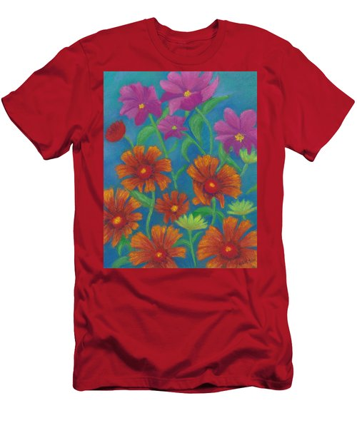 Blanket Flowers And Cosmos Men's T-Shirt (Athletic Fit)