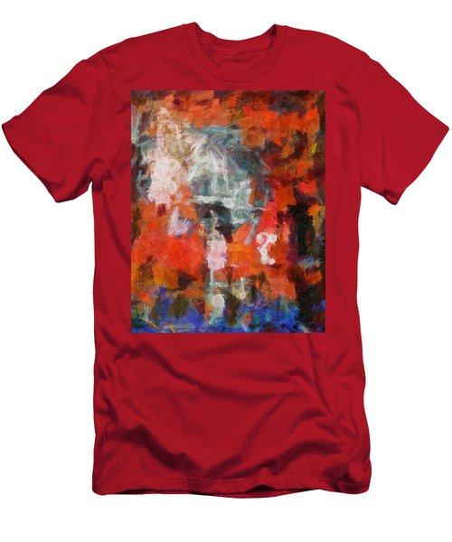 Men's T-Shirt (Slim Fit) featuring the digital art Blows Away In The Wind by Joe Misrasi