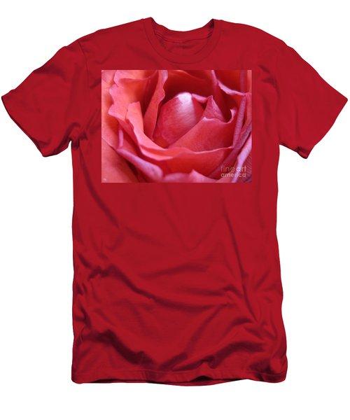 Blushing Pink Rose Men's T-Shirt (Athletic Fit)