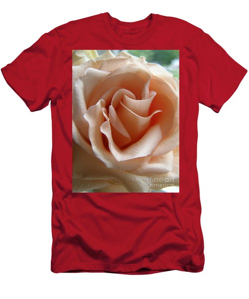 Men's T-Shirt (Slim Fit) featuring the photograph Blushing Rose by Margie Amberge