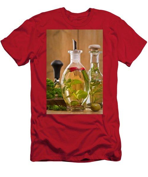 Bottles Of Olive Oil Men's T-Shirt (Athletic Fit)