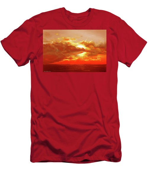 Bound Of Glory - Red Sunset  Men's T-Shirt (Athletic Fit)