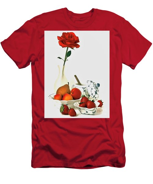 Men's T-Shirt (Slim Fit) featuring the photograph Breakfast For Lovers by Elf Evans