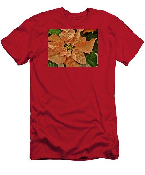 Bronze Poinsettia 3 Men's T-Shirt (Athletic Fit)