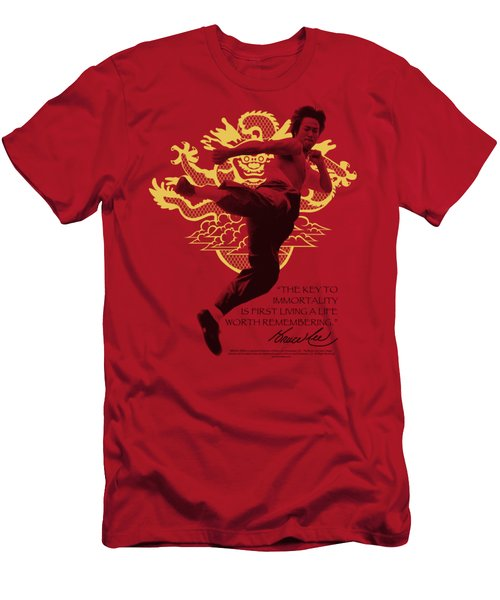 Bruce Lee - Immortal Dragon Men's T-Shirt (Athletic Fit)