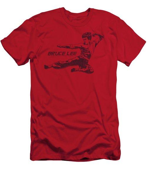 Bruce Lee - Line Kick Men's T-Shirt (Slim Fit) by Brand A