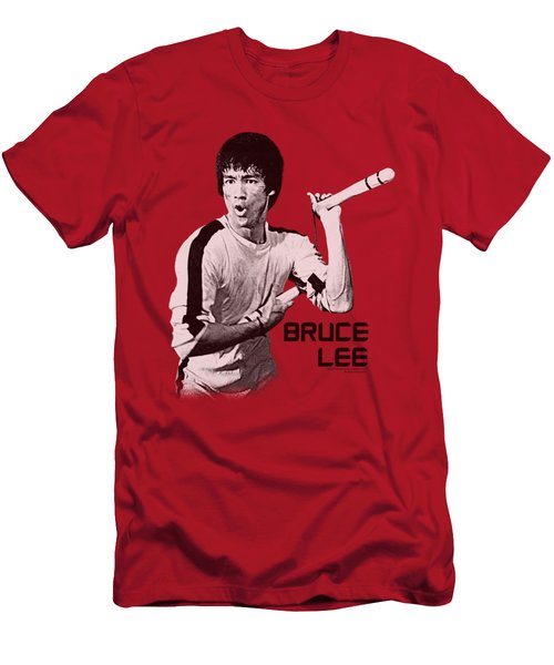 Bruce Lee - Nunchucks Men's T-Shirt (Athletic Fit)