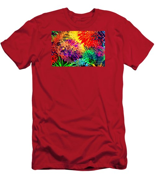 Men's T-Shirt (Slim Fit) featuring the photograph Bubbles by Geraldine DeBoer