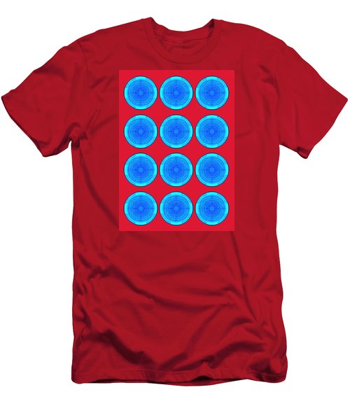 Bubbles Minty Blue Poster Men's T-Shirt (Athletic Fit)