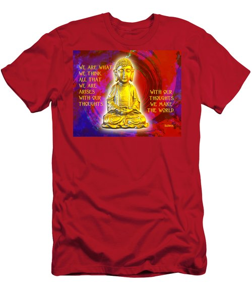 Buddha's Thoughts 2 Men's T-Shirt (Slim Fit) by Ginny Gaura